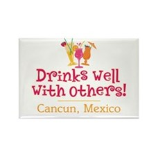 Drinks Well_Cancun - Rectangle Magnet