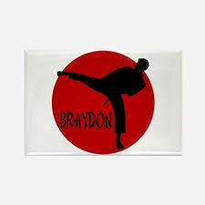 Braydon Martial Arts Rectangle Magnet