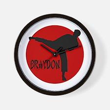 Braydon Martial Arts Wall Clock