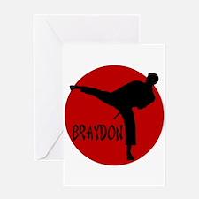 Braydon Martial Arts Greeting Card