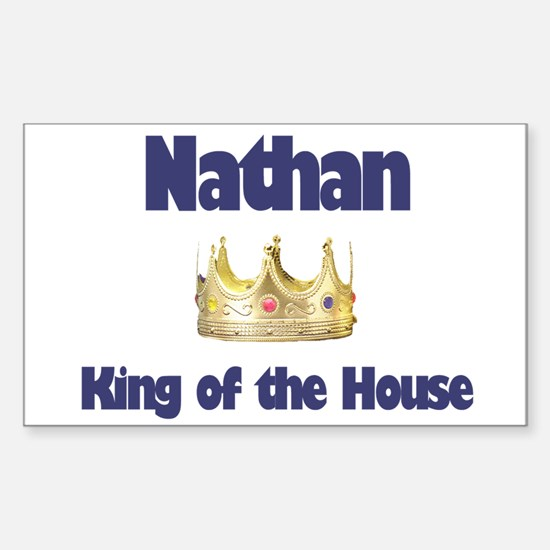 Nathan - King of the House Rectangle Decal