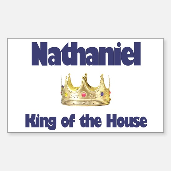 Nathaniel - King of the House Rectangle Decal