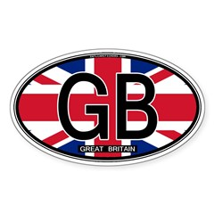 Great Britain Colors Oval Oval Sticker (50 pk)