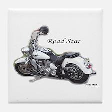 Road Star Tile Coaster