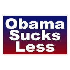 Obama Sucks Less Bumper Decal