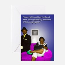 sister Hattie & husband Greeting Card