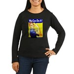 Rosie the Riveter Women's Long Sleeve Dark T-Shirt
