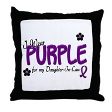 I Wear Purple For My Daughter-In-Law 14 Throw Pill