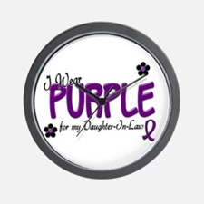I Wear Purple For My Daughter-In-Law 14 Wall Clock