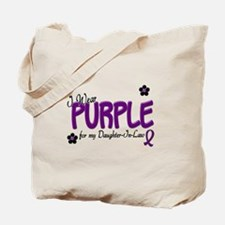 I Wear Purple For My Daughter-In-Law 14 Tote Bag