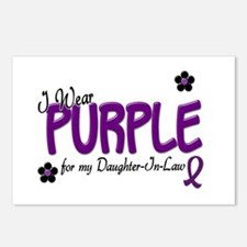 I Wear Purple For My Daughter-In-Law 14 Postcards