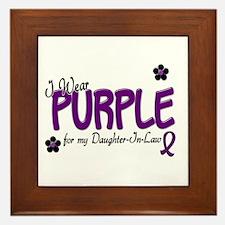I Wear Purple For My Daughter-In-Law 14 Framed Til
