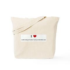 I Love scruffy looking nerf h Tote Bag