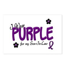 I Wear Purple For My Son-In-Law 14 Postcards (Pack