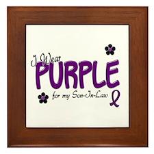 I Wear Purple For My Son-In-Law 14 Framed Tile