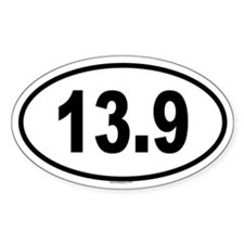 13.9 Oval Decal