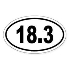 18.3 Oval Decal
