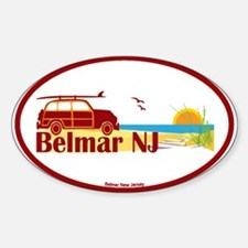Belmar NJ Oval Decal