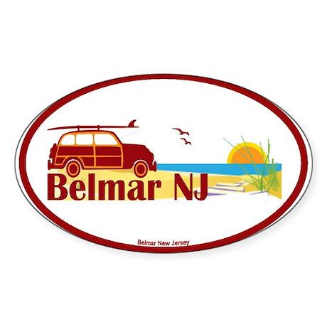 Belmar NJ Oval Sticker