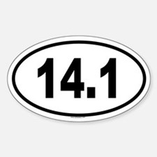 14.1 Oval Decal