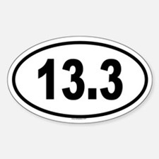 13.3 Oval Decal