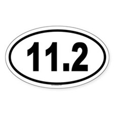 11.2 Oval Decal