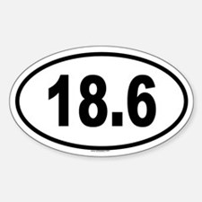 18.6 Oval Decal