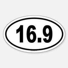 16.9 Oval Decal