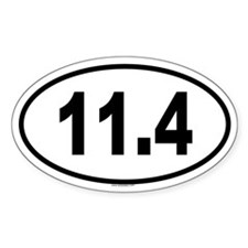 11.4 Oval Decal