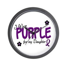 I Wear Purple For My Daughter 14 Wall Clock