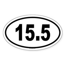 15.5 Oval Decal