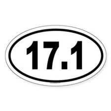 17.1 Oval Decal