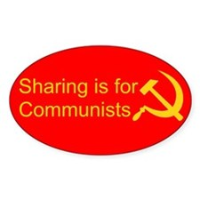 """""""Sharing is for Communists"""" Decal"""