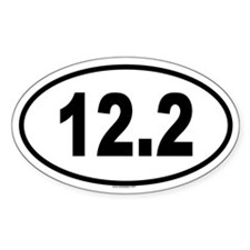 12.2 Oval Decal