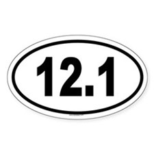 12.1 Oval Decal
