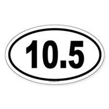 10.5 Oval Decal