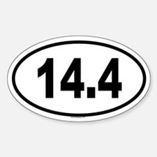 14.4 Oval Decal