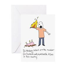 Birthday Cake Death Birthday Card