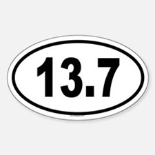 13.7 Oval Decal