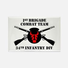 1st BCT 34th Infantry Division (1) Rectangle Magne