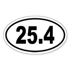 25.4 Oval Decal