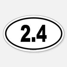 2.4 Oval Decal