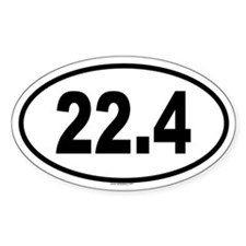 22.4 Oval Decal