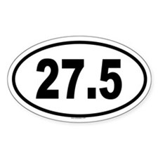 27.5 Oval Decal