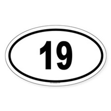 19 Oval Decal