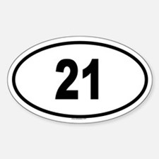 21 Oval Decal
