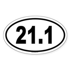 21.1 Oval Decal