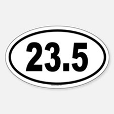 23.5 Oval Decal