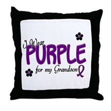 I Wear Purple For My Grandson 14 Throw Pillow