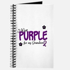 I Wear Purple For My Grandson 14 Journal